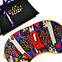 Q For Queen Of Hearts Silk Eye Mask In Giftbox image