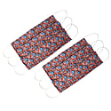 Pack Of 6 Reusable Protective Cloth Mask With Integrated Filter With Red Floral Print image
