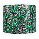 Peacock Feathers Lampshade – Large image