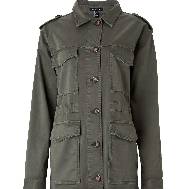 964c2cbe894 Ira Utility Jacket In Washed Khaki (S) by Baukjen