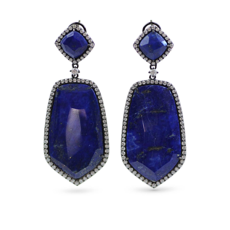e2cccca58f6db Sterling Silver Lapis Lazuli Dangle Earrings by Bellus Domina