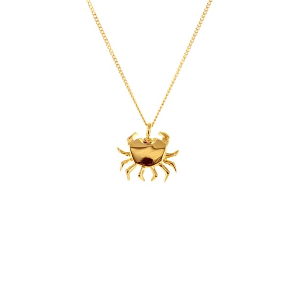 mini-crab-necklace-gold by origami-jewellery