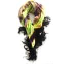 Lime Dye Fringed Scarf image