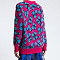 Norma Pink Animal Print Knit image