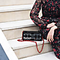 Neptune Clutch In Black With Mirror image