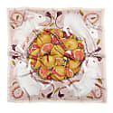 Rabbits & Pomegranates Silk Scarf - Square image