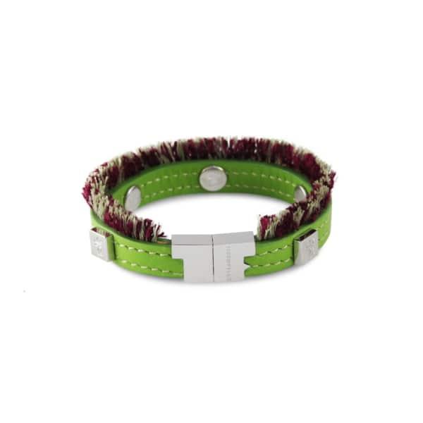 TISSUVILLE Flik Mini Bracelet Green Silver