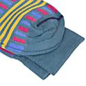 Petrol Vertical & Horizontal Lines Organic Cotton Socks image