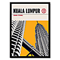 Kuala Lumpur Petronas Towers Modernist Architectural Travel Poster image