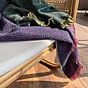 Quaternio Yellow 100% Merino Wool Handwoven Throw image
