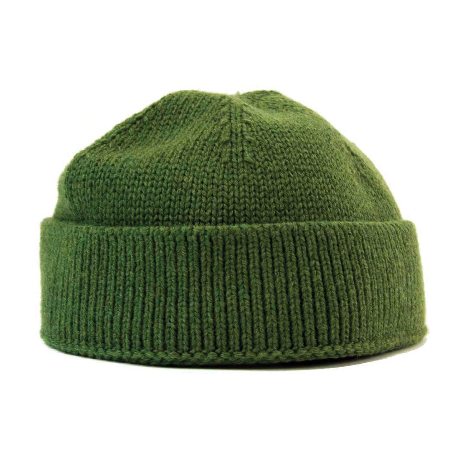 e500babdb23 Green Solid Wool Fisherman Beanie image
