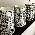 Vine China Pint Jug - Black, White & Ochre image
