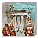 Set Of Five Greeting Cards With Envelopes featuring The Monkey Temple image