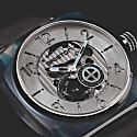 Briston Streamliner Skeleton Blue Acetate Silver Dial image