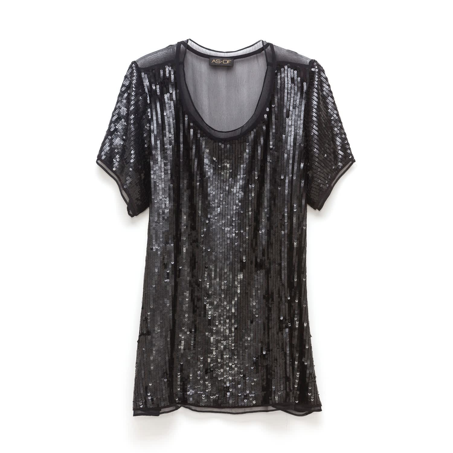 Geneva Luxe Matte Sequin Tee by AS by DF