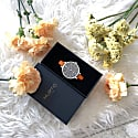 Amalfi Petite Vegan Leather Watch Silver, Grey & Tan image
