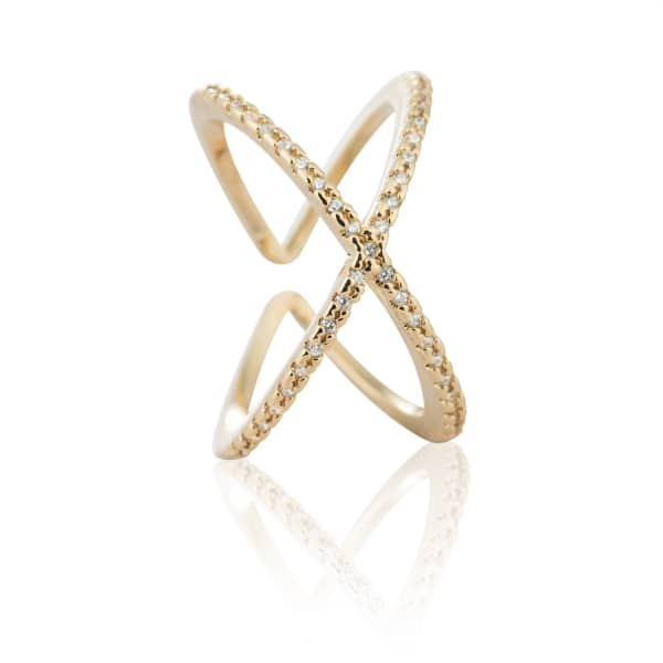 Across the World Cocktail Ring in Gold