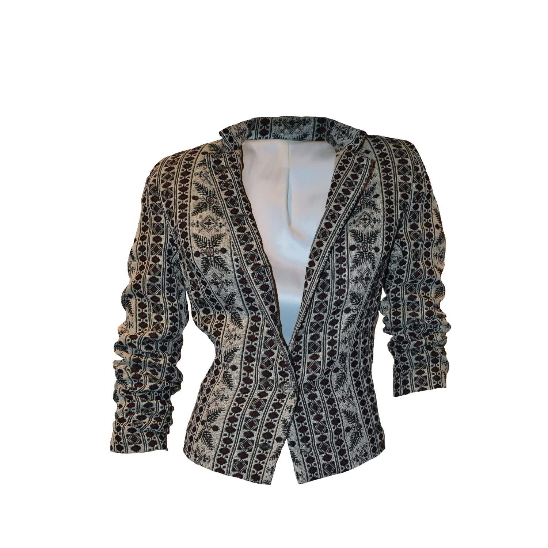 Women s Short Jacket Off White image 2d3f77721ece