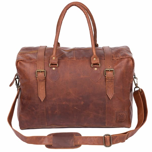 MAHI LEATHER The Eckhart Leather Holdall in Vintage Brown