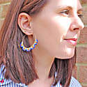 Hoop Earrings in Bright Colors image