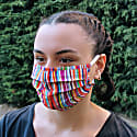 Pack Of 3 - Adjustable / Colorful Triple Layer Cotton Face Masks With Nose Wire image