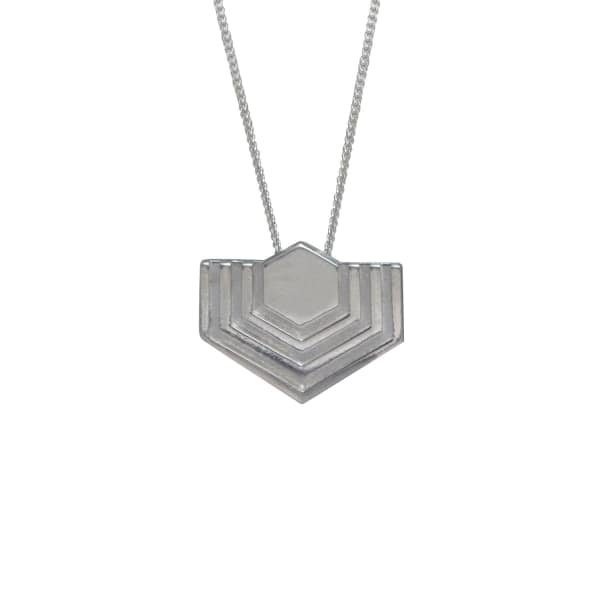 EDGE ONLY Hexagon Necklace In Silver