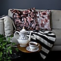 Opium Blush Black Velvet Cushion image