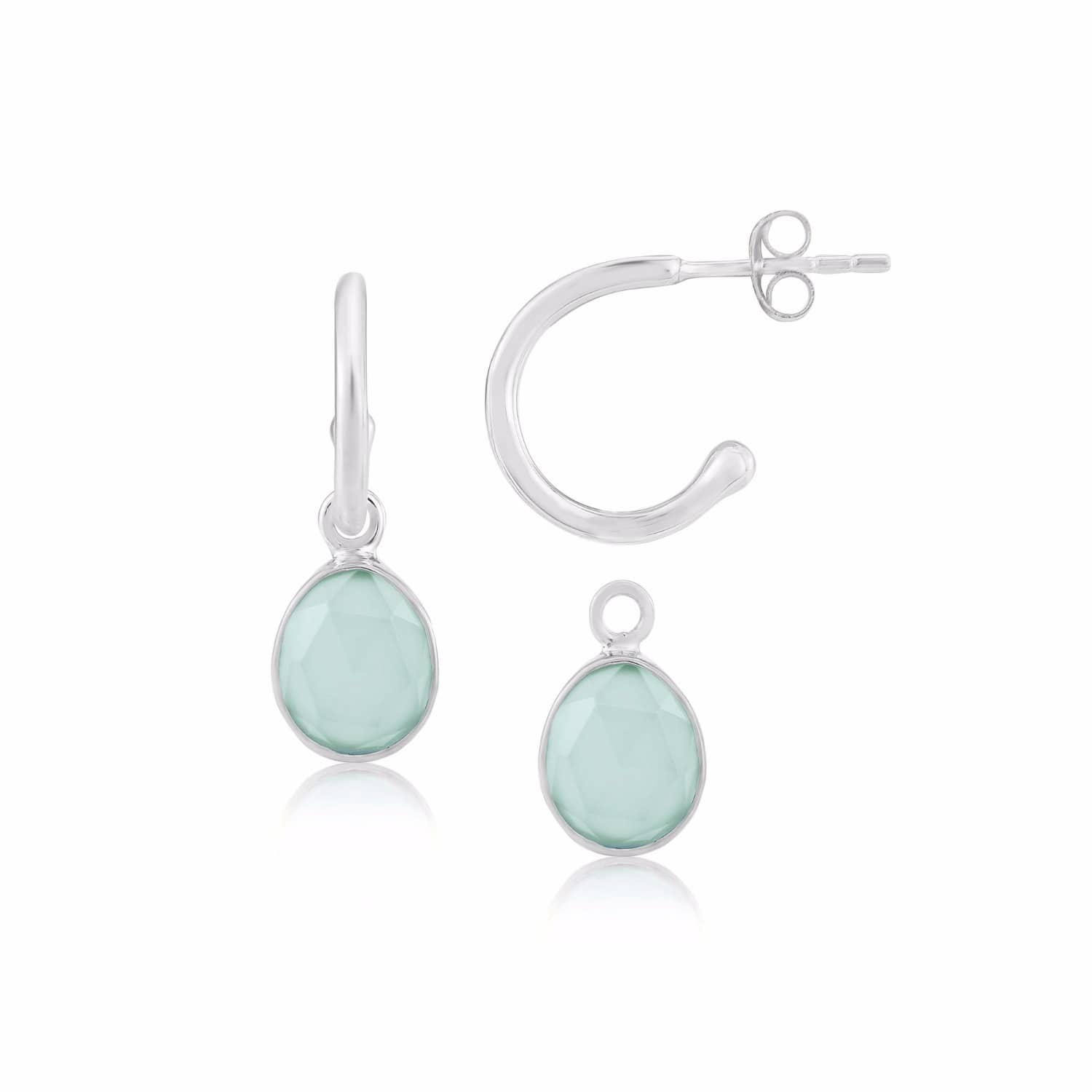 ear interchangeable studs fbl earrings bob silver perspex shop collection frillybylily blue