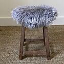 Sheepskin Long Hair Seatpad Circular Pewter Grey image
