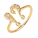 !? Exclamation Midi Pinky Ring Gold image