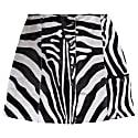 Zebra Print Calf Hair Skirt image