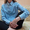 Jane Blue Printed Shirt image