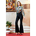Cobie High Waisted Shimmery Flared Trousers image