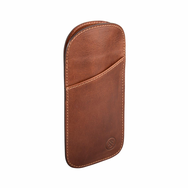 b1005b8e330 The Tan Rufeno Slim Leather Glasses Case image