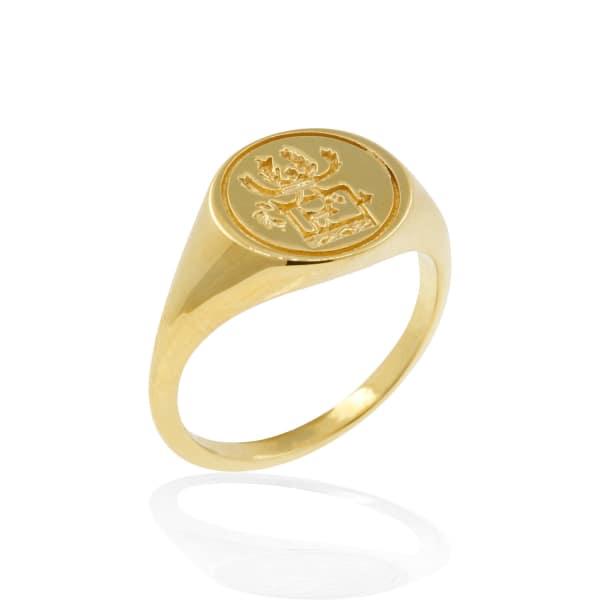 Sami Reindeer Signet Ring - Gold