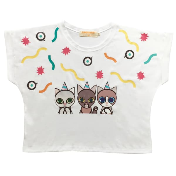 SUPERSWEET X MOUMI Party Cats Girl Tee