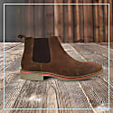 Curito London Men's Suede Leather Chelsea Boots - Tan image