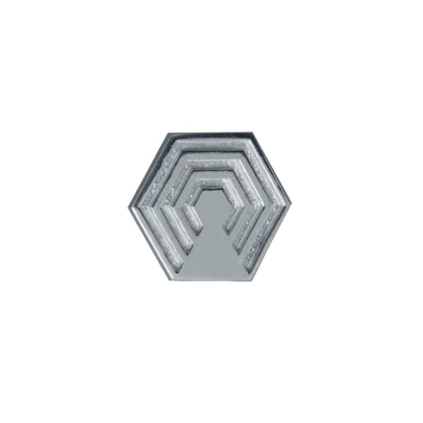 EDGE ONLY Hexagon Lapel Pin in Silver