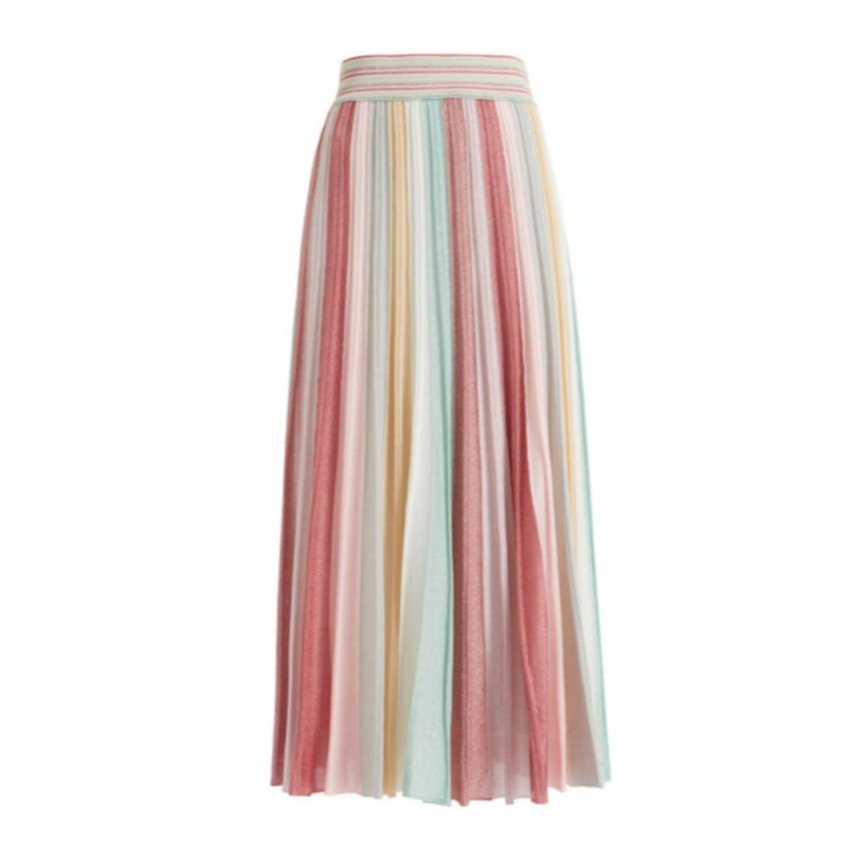 585c53045fa8 Faunia Pastel Lurex Knit Maxi Skirt | WtR | Wolf & Badger