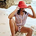 Naomi Jute Bucket Hat In Red image