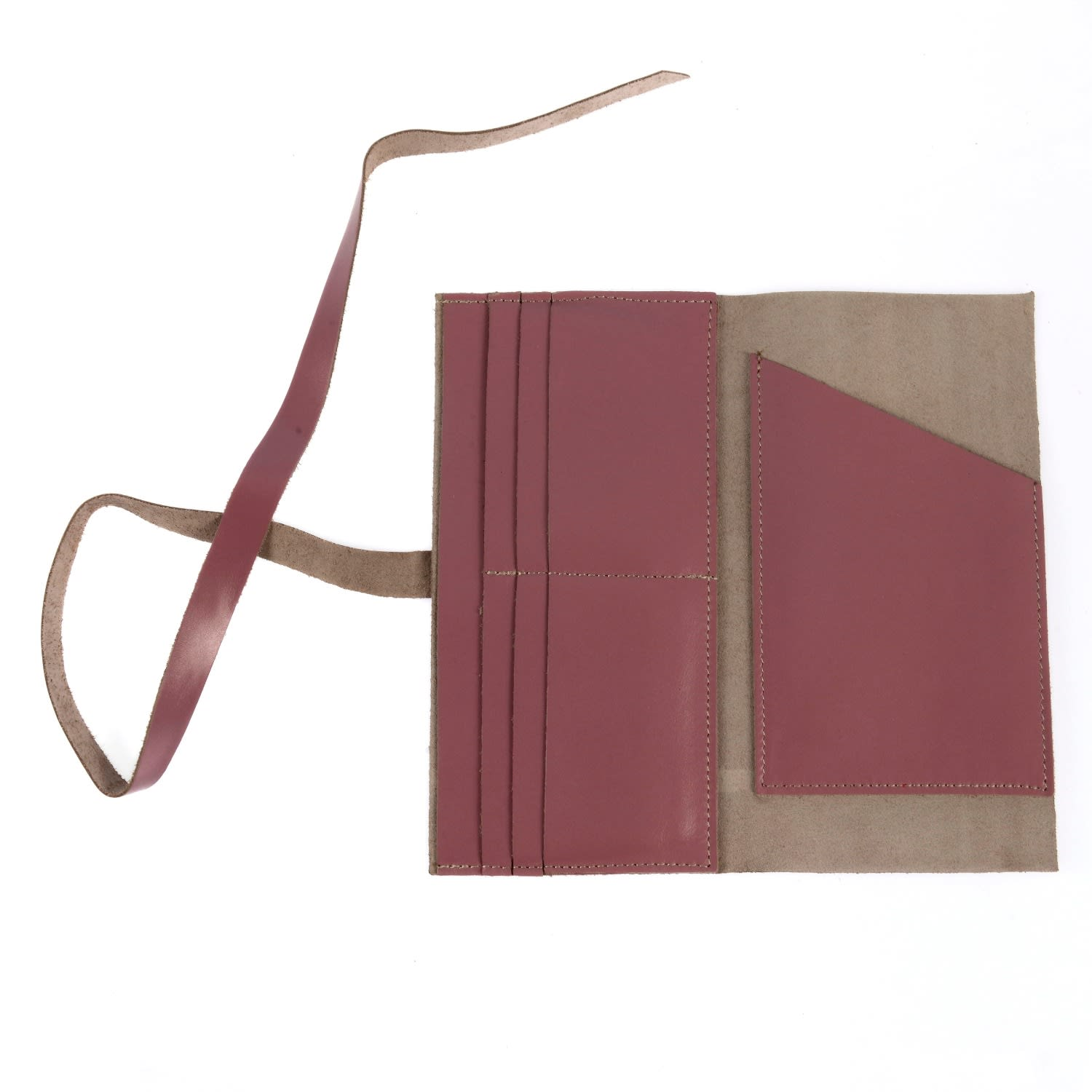Hedera Leather Wallet Lilac by Hiva Atelier