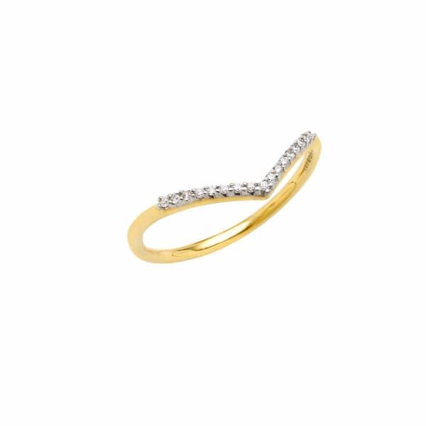 SHARON MILLS LONDON Wishbone Diamond Ring