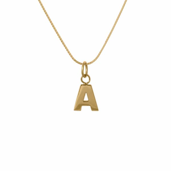 EDGE ONLY Letter Necklace in Gold