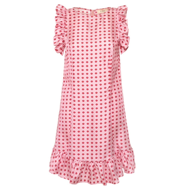 547fb74fe45 Darcy Dress Pink Lip Print