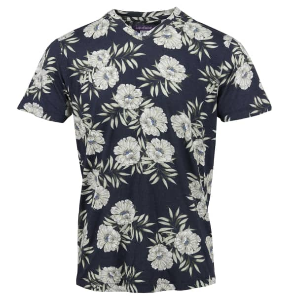 LORDS OF HARLECH Maze Tee In Black Tropicana