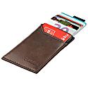 Slim Vegan Card Holder – Brown Black image