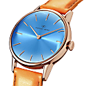 August Berg Serenity Rosegold Classic Sky Blue - Light Brown Leather 32mm image