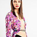 Flower Power Print Lace Duster image