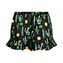 Silke Frill Shorts In Black Cactus Print image