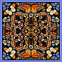The British Butterfly Silk Scarf image
